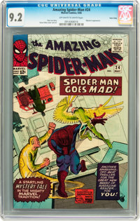 The Amazing Spider-Man #24 Twin Cities pedigree (Marvel, 1965) CGC NM- 9.2 Off-white to white pages