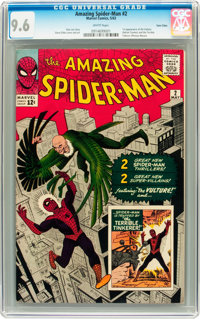 The Amazing Spider-Man #2 Twin Cities pedigree (Marvel, 1963) CGC NM+ 9.6 White pages