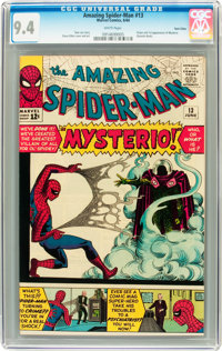 The Amazing Spider-Man #13 Twin Cities pedigree (Marvel, 1964) CGC NM 9.4 White pages