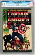 Silver Age (1956-1969):Superhero, Captain America #100 Twin Cities pedigree (Marvel, 1968) CGC NM+ 9.6 White pages....