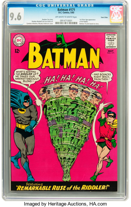 Batman #171 Twin Cities pedigree (DC, 1965) CGC NM+ 9.6 Off-white to white pages....