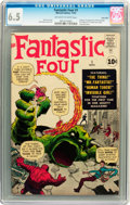 Silver Age (1956-1969):Superhero, Fantastic Four #1 Twin Cities pedigree (Marvel, 1961) CGC FN+ 6.5 Off-white to white pages....