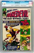 Silver Age (1956-1969):Superhero, Daredevil #1 Twin Cities pedigree (Marvel, 1964) CGC NM 9.4Off-white to white pages....