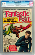 Silver Age (1956-1969):Superhero, Fantastic Four #10 Twin Cities pedigree (Marvel, 1963) CGC NM- 9.2Off-white to white pages....