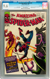The Amazing Spider-Man #21 Twin Cities pedigree (Marvel, 1965) CGC NM+ 9.6 Off-white to white pages