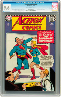Action Comics #346 Twin Cities pedigree (DC, 1967) CGC NM+ 9.6 Off-white to white pages