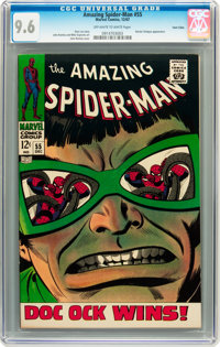 The Amazing Spider-Man #55 Twin Cities pedigree (Marvel, 1967) CGC NM+ 9.6 Off-white to white pages