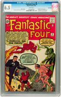 Silver Age (1956-1969):Superhero, Fantastic Four #6 Twin Cities pedigree (Marvel, 1962) CGC FN+ 6.5White pages....