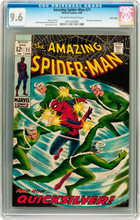 The Amazing Spider-Man #71 Twin Cities pedigree (Marvel, 1969) CGC NM+ 9.6 Off-white to white pages