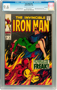 Iron Man #3 Twin Cities pedigree (Marvel, 1968) CGC NM+ 9.6 Off-white to white pages