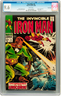Iron Man #4 Twin Cities pedigree (Marvel, 1968) CGC NM+ 9.6 White pages