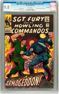 Sgt. Fury and His Howling Commandos #29 Twin Cities pedigree (Marvel, 1966) CGC NM/MT 9.8 White pages