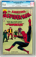 Silver Age (1956-1969):Superhero, The Amazing Spider-Man #10 Twin Cities pedigree (Marvel, 1964) CGCNM+ 9.6 Off-white to white pages....
