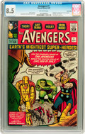 Silver Age (1956-1969):Superhero, The Avengers #1 Twin Cities pedigree (Marvel, 1963) CGC VF+ 8.5Off-white pages....