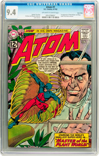 The Atom #1 Twin Cities pedigree (DC, 1962) CGC NM 9.4 Off-white to white pages