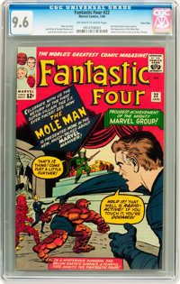 Fantastic Four #22 Twin Cities pedigree (Marvel, 1964) CGC NM+ 9.6 Off-white to white pages