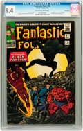 Silver Age (1956-1969):Superhero, Fantastic Four #52 Twin Cities pedigree (Marvel, 1966) CGC NM 9.4Off-white to white pages....
