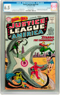 Silver Age (1956-1969):Superhero, The Brave and the Bold #28 Justice League of America - Twin Citiespedigree (DC, 1960) CGC FN+ 6.5 Off-white pages....