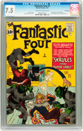 Silver Age (1956-1969):Superhero, Fantastic Four #2 Twin Cities pedigree (Marvel, 1962) CGC VF- 7.5 Off-white to white pages....