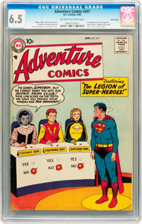 Adventure Comics #247 Twin Cities pedigree (DC, 1958) CGC FN+ 6.5 Off-white to white pages