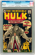 Silver Age (1956-1969):Superhero, The Incredible Hulk #1 Twin Cities pedigree (Marvel, 1962) CGC VG+4.5 Off-white to white pages....