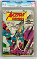 Silver Age (1956-1969):Superhero, Action Comics #252 Twin Cities pedigree (DC, 1959) CGC VF/NM 9.0Off-white pages....