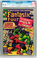 Silver Age (1956-1969):Superhero, Fantastic Four #25 Twin Cities pedigree (Marvel, 1964) CGC NM- 9.2Off-white to white pages....