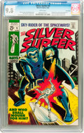 Silver Age (1956-1969):Superhero, The Silver Surfer #5 Twin Cities pedigree (Marvel, 1969) CGC NM/MT9.8 White pages....