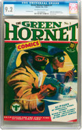 Golden Age (1938-1955):Superhero, Green Hornet Comics #1 (Harvey, 1940) CGC NM- 9.2 Off-white to white pages....