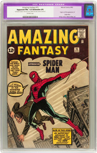 Amazing Fantasy #15 (Marvel, 1962) CGC Apparent FN+ 6.5 Extensive (P) Off-white pages