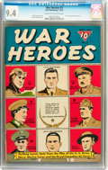 Golden Age (1938-1955):War, War Heroes #3 (Dell, 1943) CGC NM 9.4 Cream to off-white pages....