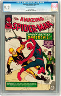 Silver Age (1956-1969):Superhero, The Amazing Spider-Man #16 (Marvel, 1964) CGC NM- 9.2 Off-white towhite pages....
