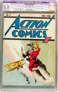 Golden Age (1938-1955):Superhero, Action Comics #2 (DC, 1938) CGC Apparent VG/FN 5.0 Extensive (P) Cream to off-white pages....