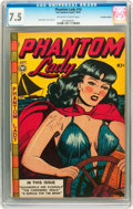 Golden Age (1938-1955):Crime, Phantom Lady #14 Canadian Edition (Fox Features Syndicate, 1947) CGC VF- 7.5 Off-white to white pages....