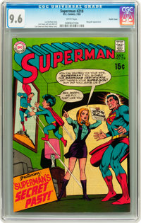 Superman #218 Pacific Coast pedigree (DC, 1969) CGC NM+ 9.6 White pages