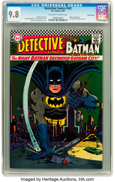 Detective Comics #362 Pacific Coast pedigree (DC, 1967) CGC NM/MT 9.8 Off-white to white pages....