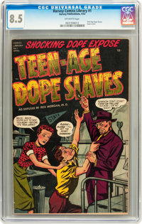 Harvey Comics Library #1 Teen-Age Dope Slaves (Harvey, 1952) CGC VF+ 8.5 Off-white pages