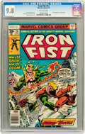Bronze Age (1970-1979):Superhero, Iron Fist #14 (Marvel, 1977) CGC NM/MT 9.8 Off-white pages....