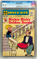 Silver Age (1956-1969):Humor, Harvey Hits #9 Richie Rich's Golden Deeds - File Copy (Harvey, 1958) CGC VF+ 8.5 Cream to off-white pages....