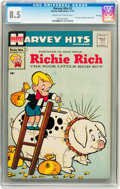 Silver Age (1956-1969):Humor, Harvey Hits #3 Richie Rich - File Copy (Harvey, 1957) CGC VF+ 8.5 Cream to off-white pages....