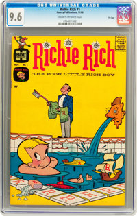 Richie Rich #1 File Copy (Harvey, 1960) CGC NM+ 9.6 Cream to off-white pages