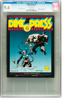 Dime Press #4 (Dime Press, 1993) CGC NM+ 9.6 White pages