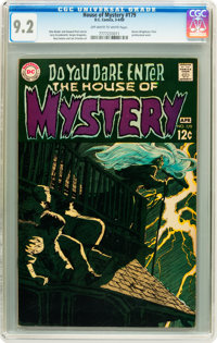 House of Mystery #179 (DC, 1969) CGC NM- 9.2 Off-white to white pages