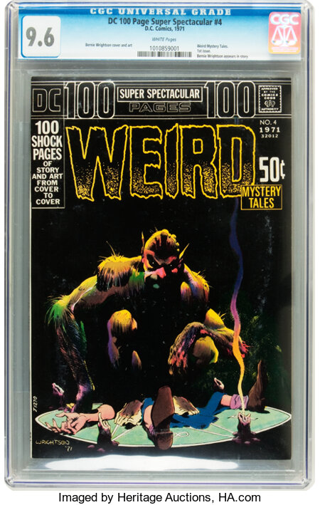 DC 100-Page Super Spectacular #4 Weird Mystery Tales (DC, 1971) CGC NM+ 9.6 White pages....