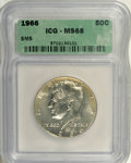 Kennedy Half Dollars: , 1966 50C SMS MS68 ICG. PCGS Population (1/0). Mintage: 108,984,928.(#6709)...