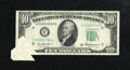 Error Notes:Foldovers, Fr. 2012-F $10 1950B Federal Reserve Note. Very Fine.. ...