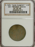 (1694) TOKEN London Elephant Token, Thick Planchet VF30 NGC....(PCGS# 55)