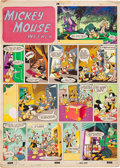 Original Comic Art:Covers, Mickey Mouse Weekly #607 (UK) Cover Original Art(Disney/Odhams Press, 1951)....