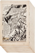 Original Comic Art:Complete Story, Morris Waldinger Classics Illustrated #100 Mutiny on the Bounty Complete 44-page Story Original Art (G...
