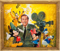 Animation Art:Production Drawing, Paul Wenzel Walt Disney and Friends Portrait Painting Original Art (undated)....